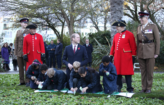 HRH The Duke of Cambridge at Keingston Memorial Park