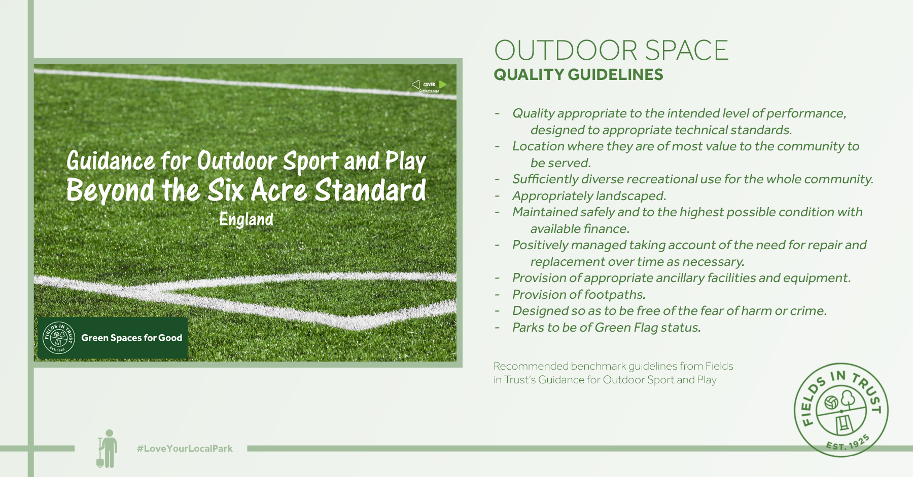 Guidance for Outdoor Sport and Play